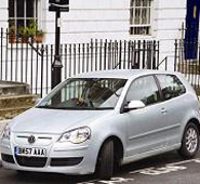 An image of a VW polo available through the Streetcar pay-as-you-go scheme