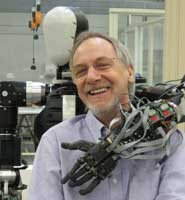 Professor Chris Melhuish with robot Bert
