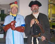 Left to right: porters Steve Curry and Dave Brown at the Merchant Venturers Building