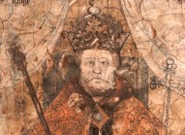 Part of the mural depicting Henry VIII