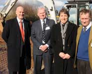 From left to right: Mr Miles Littlewort, Alborada Trust; Andrew Trawford, Director of Veterinary Services at the Donkey Sanctuary; Professor Jo Price, Head of the School of Veterinary Sciences at the University of Bristol and Sir David Wills, Chairman of the Langford Trust