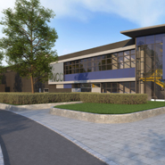 Artist's impression of the National Composites Centre