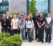 Bristol engineering students on their visit to Thales UK