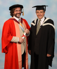 Greg Doran receives his honorary degree from Professor Martin White