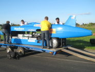 The University of Bristol team work on Bluebird
