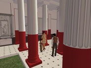 REACT will help to develop projects that use game engines and avatar chatbots to dramatise heritage sites such as this recreation of the Pompeiian Court built in Second Life by Dr Shelley Hales and Dr Nic Earle