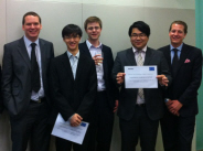 Chris Strand (centre) with fellow finalists in the Deloitte Top Technology Talent competition