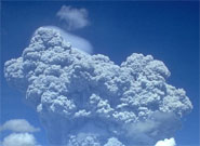 The ashcloud from the eruption of Mount Pinatubo in 1991