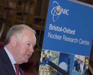 Charles Hendry, Minister of State for the Department of Energy and Climate Change, speaking at the opening of the Nuclear Research Centre