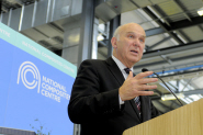Business Secretary Vince Cable at the launch of the National Composites Centre