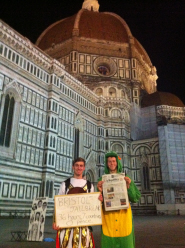 Scott Caddick and Paul Rogers in Florence