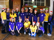 Student volunteers from UBU at the Children's Christmas Party