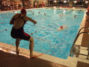 Competitors take to the pool for the BULSCA inter-university competition