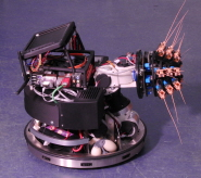 The Shrewbot, which is the latest in a series of robots to use 'active touch' rather than vision to navigate their environment.
