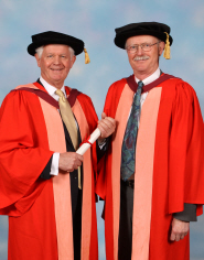 Tim Stevenson, Doctor of Laws, with orator Professor Selby Knox