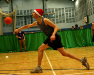 A player gets to grips with Dodgeball