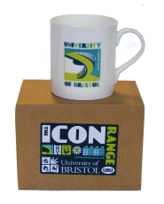 One of the new mugs featuring the Students' Union