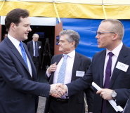 Nick Sturge, right, meets Chancellor of the Exchequer George Osborne at the launch of the Temple Quarter Enterprise Zone
