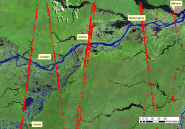 ICESat passes over the Amazon Basin study area