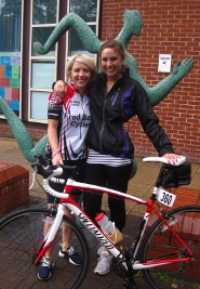 Katie Corkill and Laura Murray prepare for The Kaiser Challenge