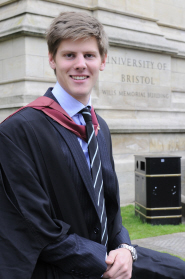 Lawrence Clarke on his graduation day last year