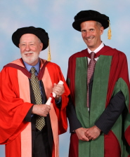 Professor Graham Fleming with orator Professor Mike Ashfold