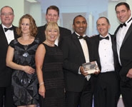 Members of the Capital Projects Office with the award