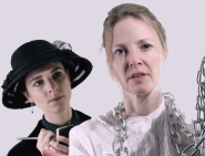 Gemma Reynolds as journalist Lucy Woodhall and Victoria Bourne as chainmaker Mrs Davies