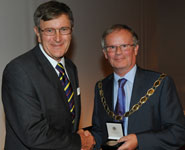 Professor Alan Preece receives the award from Roy Robertson Hon FRPS, President of the Royal Photographic Society