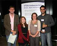 [from left to right] Owen Rackham, Katy Glazer, STEM Co-ordinator, Claire Dimond, Senior STEM Manager and Adam Sardar