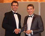 Philip Kingsley [right] and Dr Jonathan Rossiter at the SET Awards ceremony