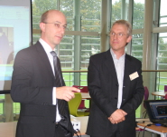 Dr Dave Newbold, Head of the Bristol Particle Physics Group, and Professor Bob van Eijk, leader of the HiSPARC project