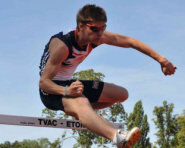 Hurdler and former University of Bristol student Lawrence Clarke in action