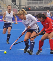 Georgie Twigg, Olympic bronze medallist, in action