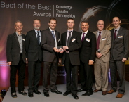 Pictured left to right: Dave Pippard (KTP Adviser for Devon and Somerset), Richard Vickery (Helitune Ltd), Richard Hunt and Steve Pollard (KTP Associates), Phil Smith (Chairman of the Technology Strategy Board), Prof Nick Lieven (Pro Vice-Chancellor at the University of Bristol) and Peter Morrish (Helitune Ltd)