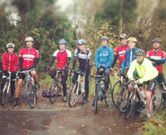 Cycling Club members with Jonathan Tiernan-Locke (centre, in blue)
