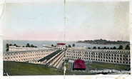 An old postcard showing the Cellular Jail, a colonial prison situated in the Andaman Islands