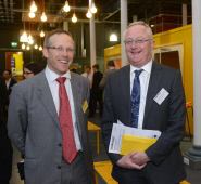 Nick Sturge and Professor Sir Eric Thomas at the Engine Shed launch