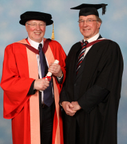 John Rutley with orator Bob Reeves