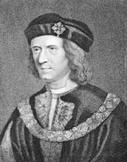 An engraving of Richard III (1452-1485) from the 1800s