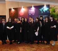 Recent graduates at the University of Bristol's inaugural graduation ceremony in China