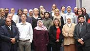Participants at the two-day seminar including, in the front row. keynote speaker Dennis Arends (second from left) and Dr Heba Raouf (second from right), the project co-ordinator from Cairo University