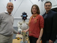 Professor Tony Pipe, Dr Kerstin Eder and Dr Evgeni Magid from the BRL