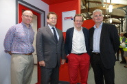 Director of the Engine Shed Nick Sturge, MP Ed Vaizey, Bristol Mayor George Ferguson and Stephen Hilton from Bristol City Council