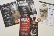 Bristol Improv's flyers for their shows at the Edinburgh Fringe