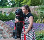 Gemma and medical alert dog 'Polo'