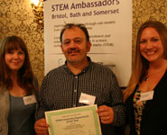 Dr Dave Turk with PhD students Jenna Todd Jones (left) and Christina Potter