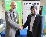 Professor Chris Firth, Chief Scientist for Thales UK [left] with Professor Nishan Canagarajah, Dean of Engineering