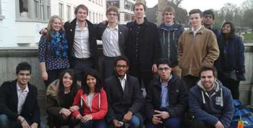 The Bristol teams who competed in the national finals held at Cambridge