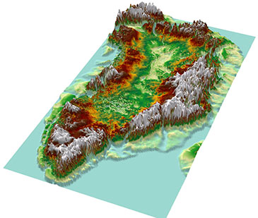 Image showing 3D model of the 'Greenland Grand Canyon'